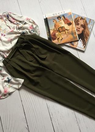 Стильные штаны, брюки с пояском george