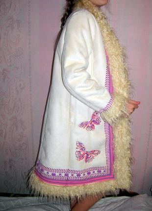 Искусственная дублёнка, пальто monsoon 11 - 13 лет.