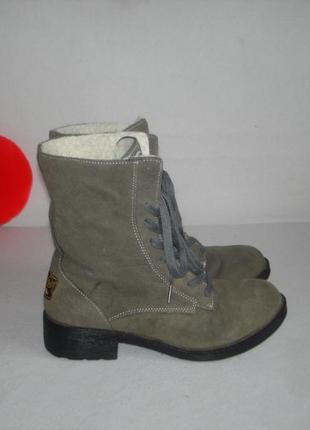 Зимние утепленные ботинки полусапожки кожаные бренд rocket dog