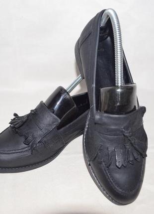 Туфли лофферы кожаные beatrix  италия 38 размер