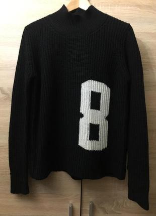 Чёрный длинный свитер colin's, размер l