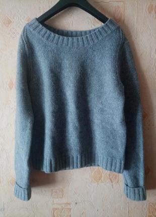 Теплый шерстяной свитер hm logg