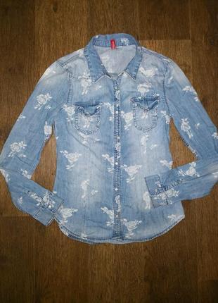 Рубашка джинсовая в цветах divided