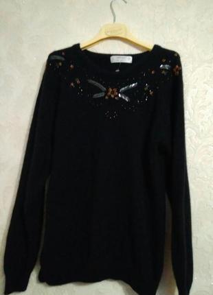 Актуальная кофта свитер джемпер бренда marks&spencer, размер 16