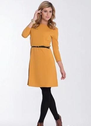 Актуальное шафрановое платье для встречи нового года бренда incity,размер 50