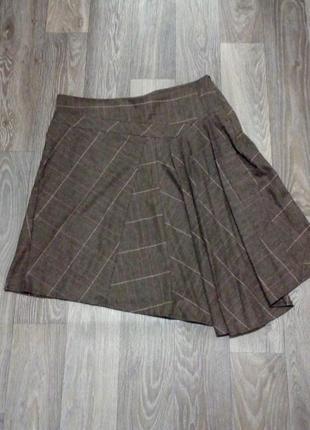 Шикарная ассиметричная шерстяная юбка
