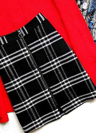 Нереально крутая юбка трапеция в клетку🔥 спідниця шотландка