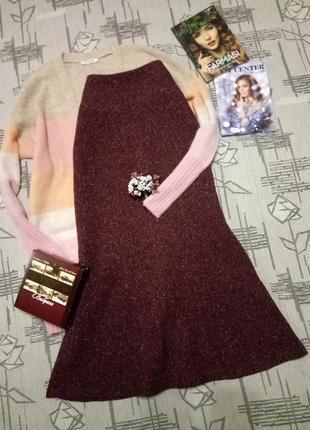Стильная шикарная твидовая юбка,шерсть,размер xs-s