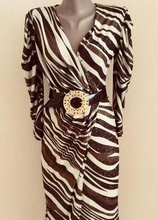 Очень эффектное красиво5 платье с золотым блеском paris