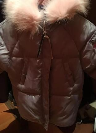 🐼зимняя куртка, с лисим мехом.🐼новиночка!💯