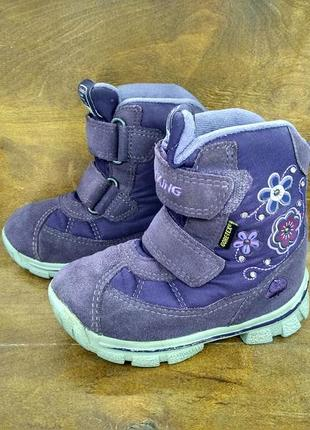 Ботинки ботиночки сапожки viking gore-tex ( 23 размер )