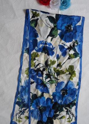 Брендовый фирменный красивый шарфик с подписью adrienne landau из шелка