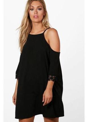 Черное платье boohoo большой размер