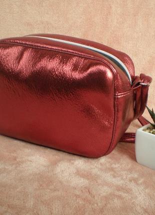 Бордовый клатч handmade