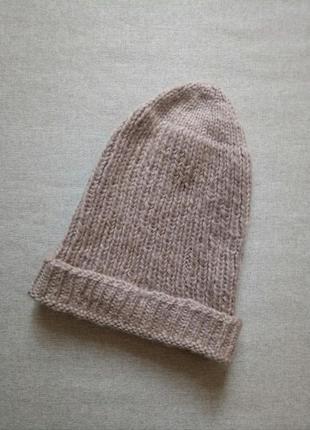 Вязаная шапка-чулок ручная работа