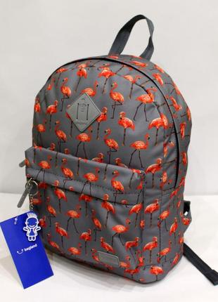 Рюкзак, ранец, городской рюкзак, спортивный рюкзак, фламинго, женский рюкзак
