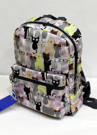 Рюкзак, ранец, городской рюкзак, спортивный рюкзак, коты, маленький рюкзак