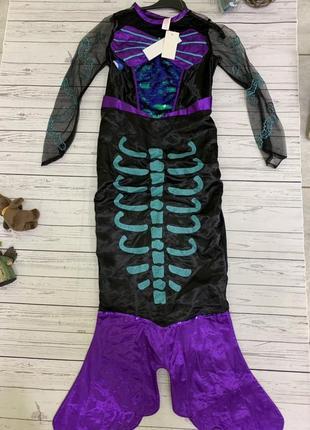 Карнавальный костюм русалки скелета рыбы