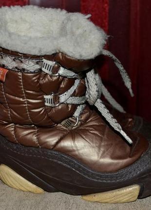 Зимние сапоги demar joy коричневый 17 см.