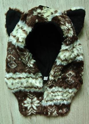 Тепла шапка-шарф з вушками
