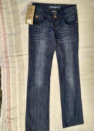 Прямые джинсы,заниженная талия польского производителя dromedar, размер 26
