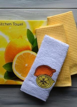 Набор кухонных полотенец gulcan fruits 3шт.