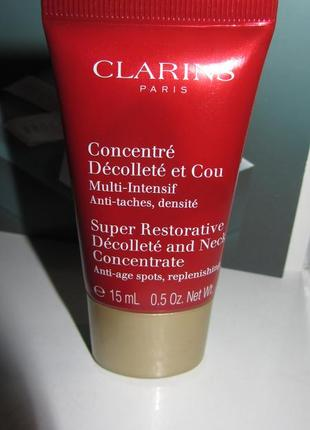 Концентрат clarins super restorative decollete and neck concentrate,15мл