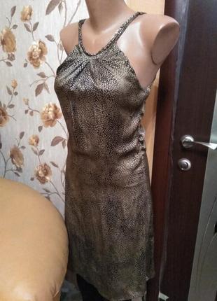 Платье золотистое нарядное