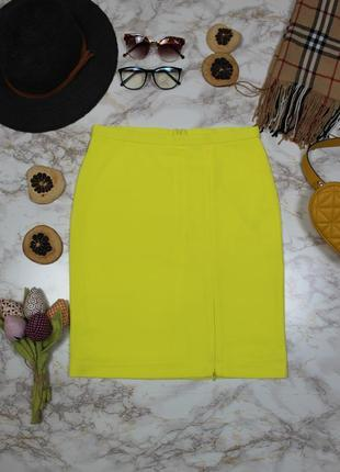 Обнова! юбка карандаш желтая неон с разрезом only