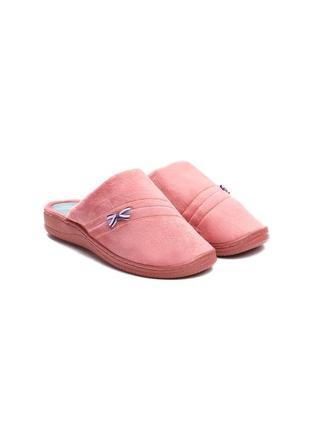 Розовые домашние тапочки (77882)