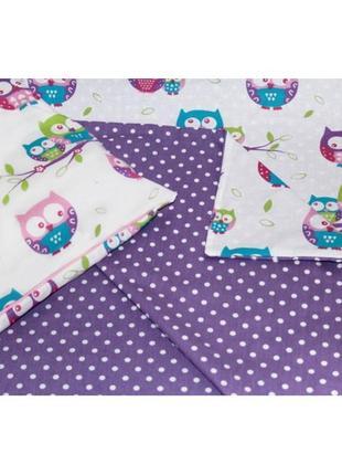 Комплект постельного белья ручной работы в детскую кроватку