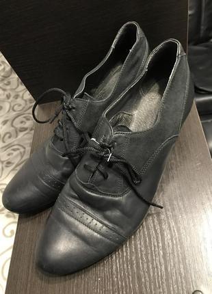 Кожаные ботинки 40-41 р