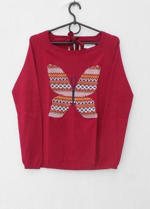 Осенний зимний хлопковый свитер реглан с длинным рукавом с рисунком