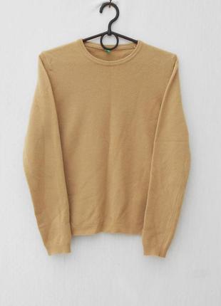 Осенний зимний 100% шерстяной свитер с длинным рукавом