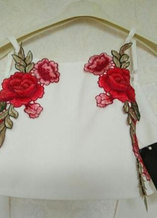 Интересный топ кроп майка блуза бренда george,размер s