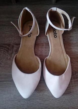 Нежные двухцветные сандалии plato,размер 38