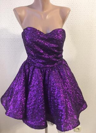 Новогоднее нарядное выпускное платье goddess london,размер прим 40-42-44