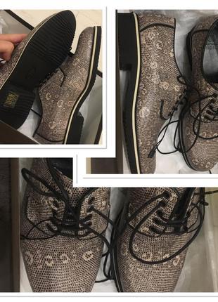 Кожаные итальянские туфли navy boot