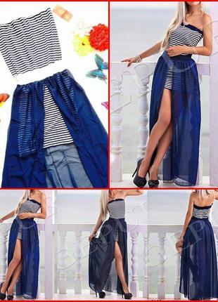 """Платье """"круиз"""" со шлейфом размер 42-44 (s-m)"""
