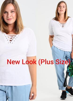 Шикарная белая футболка new look очень большого размера ( 30) наш 64