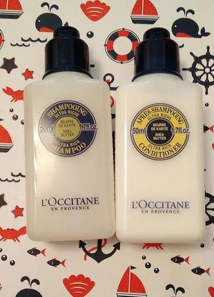 Шампунь и бальзам для волос loccitane