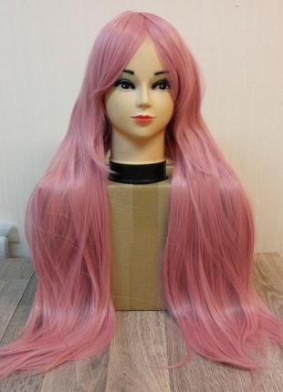 Парик прямой розовый 3560