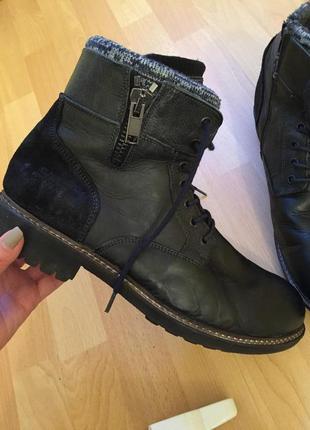 Кожаные сапоги ботинки clarks