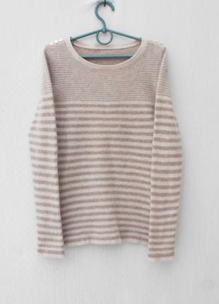 Осенний зимний кашемировый свитер в полоску с длинным рукавом