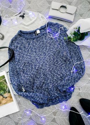Укороченный вязаный свитер h&m актуальный кроп джемпер