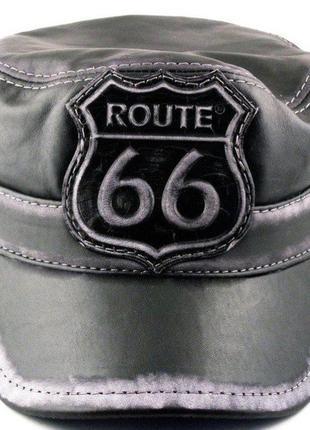 Кожаная кепка-немка route 66.