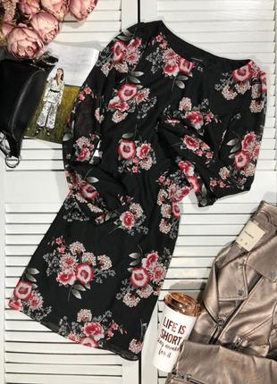 🌿 шифоновое платье с флористическим принтом от atmosphere