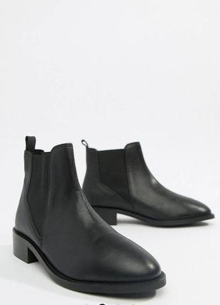 Ботинки челси черные кожаные2 фото