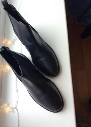Ботинки челси черные кожаные4 фото