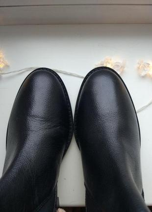 Ботинки челси черные кожаные5 фото